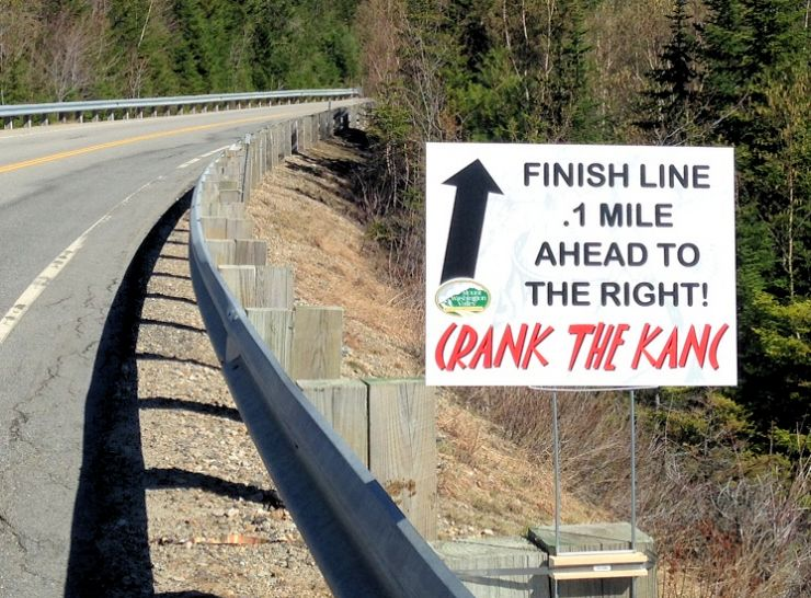 CTK 2017 .1 Mile to Go Sign.JPG